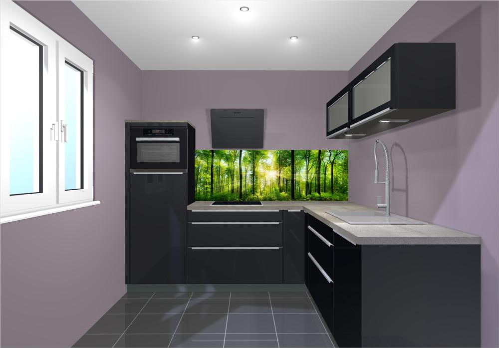Küchenrückwand ersetzt Fliesenspiegel – schöne Motive werten jede ...