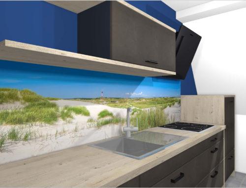 "Küchenrückwand | ""Nordsee Strand"""
