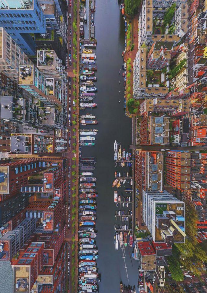 Tiefenfotografie auf Vynylkunststoffboden – Motiv City 004